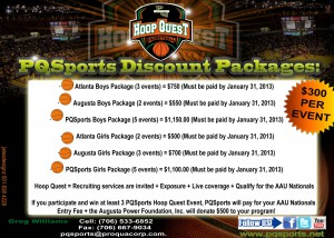 PQSports Discount Packages 2013